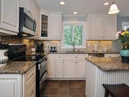 Kitchen Dark Quartz Kitchen Countertops White Cabinets Wood With