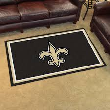 new orleans saints area rug 4 x 6 nylon