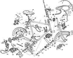 Parts diagram detailed bike cool bicycle catalog bmx bikes dirt bicycle exploded drawings and parts lists