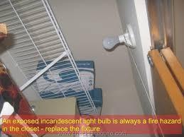 closet lighting. Closet Fire Light Fixture Hazards CheckThisHouse Intended For Decorations 18 Lighting A
