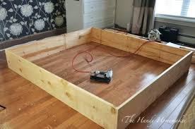 easy diy bed frame build king size bed frame easy to build king size bed fr