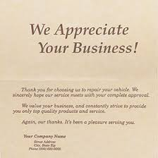 Business Thank You Note Cards Automotive Greeting Cards For Collision Repair Shops Automotive