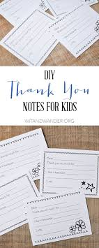 17 best ideas about thank you kindly rustic diy fill in the blank thank you notes for kids