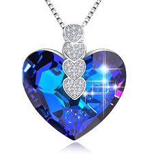 gaea h crystal necklaces love heart pendant necklaces for women necklaces with swarovski crystal