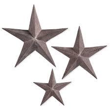 metal rust stars wall decor handmade