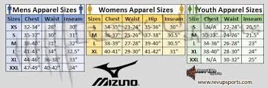Mizuno Tech Suit Size Chart Mizuno Size Chart Sochim Com