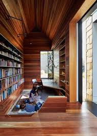 10 Creative Uses of Reclaimed Wood - Photo 2 of 10 - The library is lined