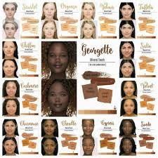 Younique Touch Foundation Color Chart Younique Wide Range Of Foundation Shades In Mineral Touch