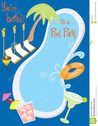 retro pool party invitation stock images image  retro pool party invitation