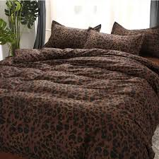 janeyu 2018 bedding set super king size duvet cover leopard bedding 3 4pcs bed set v pattern bed linen flat sheet bed set