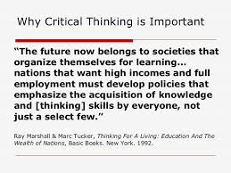 Applied Disciplines  A Critical Thinking Model for