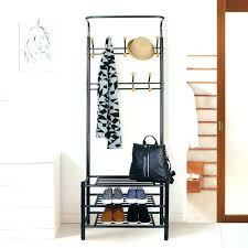 Coat Rack And Shoe Storage Magnificent Shoe Bench With Coat Rack Coat Rack Shoe Storage Bench Best Hallway
