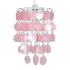 girls lamp shades rare new pink silver shell ceiling pendant light shade chandelier lampshade lamp shades