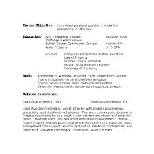 Paralegal Resume Objective Immigration Paralegal Resume Sample