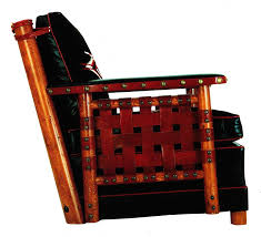 high style furniture. Thomas Molesworth Chair, Black And Red Upholstery. Paul Stock Foundation Collection. High Style Furniture