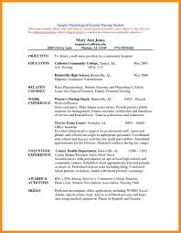 Nurse Resume Objective Nursing Student Sample By Sburnet2 For 791