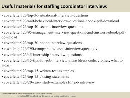 sample cover letter staffing coordinator cover letter templates top 5 staffing coordinator cover letter samples doents tips