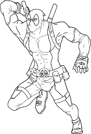 Small Picture Deadpool coloring pages for kids ColoringStar