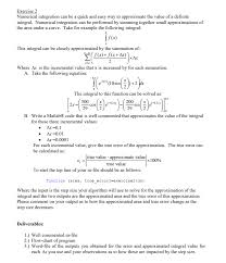 Exercise 2 Numerical Integration Can Be A Quick An
