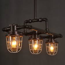industrial bar lighting. Rustic Aged Iron Industrial Vintage Water Pipes Pendant Light Industrial Bar Lighting L