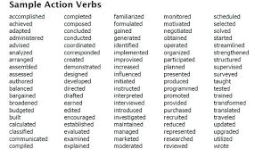 resume power words for sales to use in a professional good action