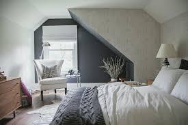 Dachschrge Mit Dachfenstern Schlafzimmer Wandgestaltung. «
