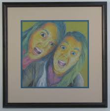 high school student original pastel drawing framed