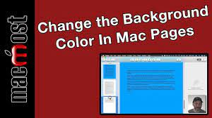 the background color in mac pages