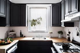 kitchen with deep gray cabinets