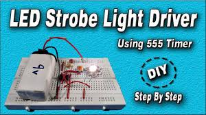 picture of led strobe light circuit using 555 timer diy how to