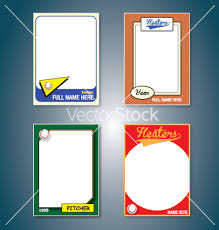 free trading card template 11 vector sports cards images free baseball card template vector