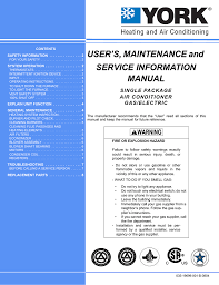 Unitary Products Group Dj210 Operating Instructions
