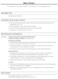 Admin Resume Objective Administrative Resume Samples Free Putasgae Info