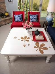 Refinishing Coffee Table Ideas Hand Painted Coffee Table Diy Chalk