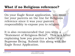 eagle scout letter of recommendation form life to eagle seminar adopted by ppt download