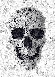 Art Doodle Doodle Skull