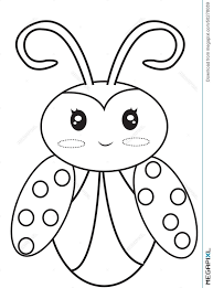 Lady Bug Coloring Sheet Ladybug Coloring Page Illustration 50278089 Megapixl