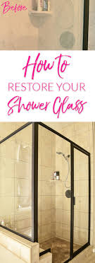 time for spring cleaning are your glass shower doors dirty see how we cleaned ourade them clear again