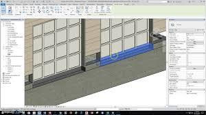 revit garage door install with concrete slab detail