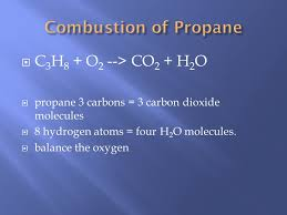 63 combustion of propane c3h8
