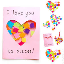 Well, lucky for you (and me), i've gathered the best printable valentine's cards for kids. Love You To Pieces Suncatcher Card Diy Mother S Day Crafts Easy Mother S Day Crafts Mothers Day Crafts For Kids