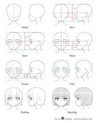 Start drawing anime hands with a simple boxy shape of a glove or a mitten. How To Draw An Anime Girl S Head And Face Animeoutline