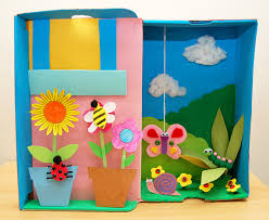 garden diorama kids crafts fun