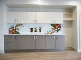 glass splashback with printed design of fruit and water sent to victoria