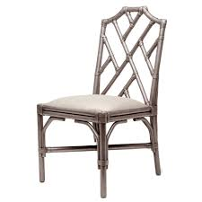 furniture made of bamboo. Made Goods Tori Side Chair - Antiqued Silver Bamboo Furniture Of