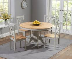 elstree 120cm painted oak grey round dining table 4 chairs zoom