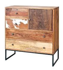 Natural Look Chest Drawers In Mango Wood Furniture
