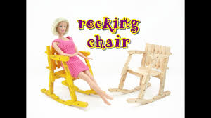 doll furniture tutorial wooden pegs rocking chair