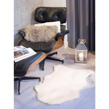 indoor area rug 2 x 3 ft off white faux sheepskin home flooring decor accessory