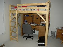 image of twin loft bed plans style